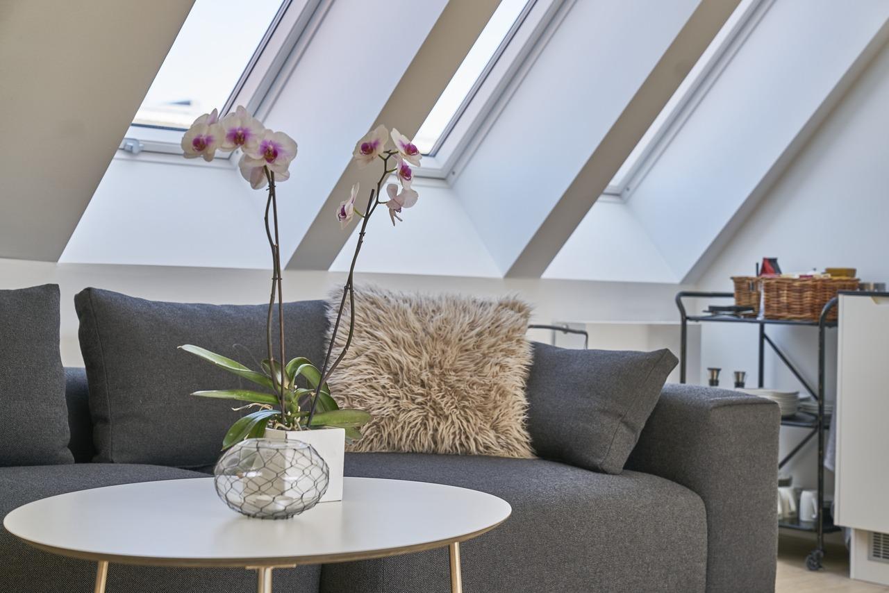 мансардні вікна для вітальні Вітальня, де приємно проводити час з друзями і сім'єю