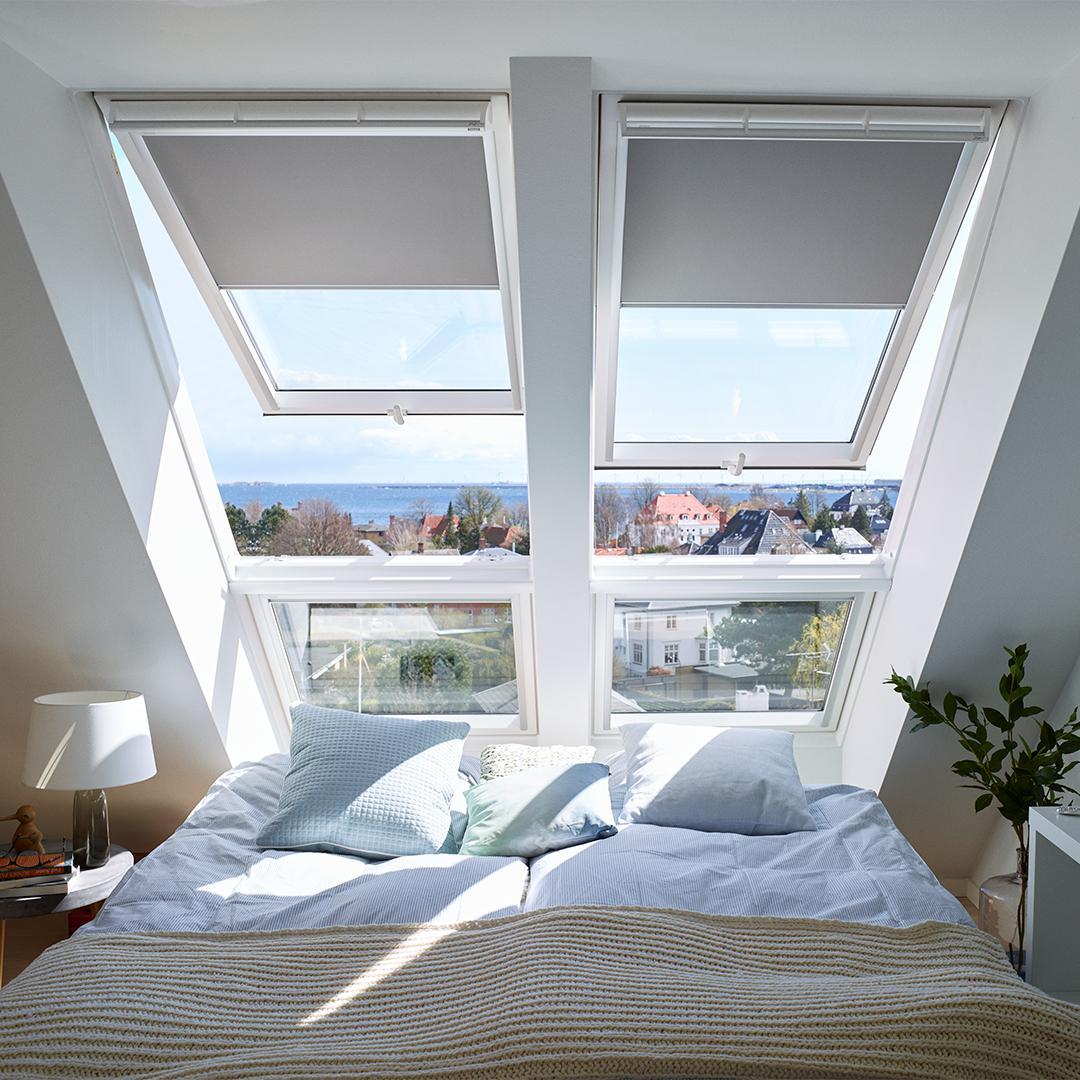 Дизайн интерьера спальни на мансардном этаже: фото #0087 Фото мансардных окон