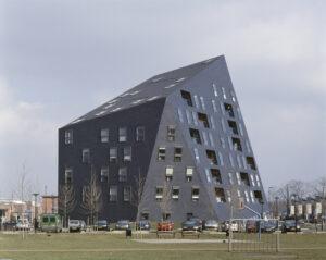 Мансардная асимметричная крыша фото
