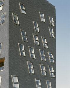 Мансардний асиметричний дах фото